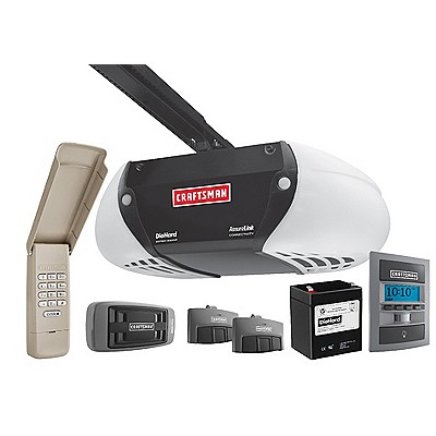 Craftsman-AssureLink-Internet-Connected-DC-Belt-Drive-Garage-Door-Opener-with-DieHard-Battery-Backup